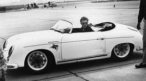 James con su Porsche Speedster 356
