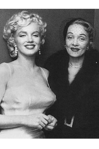 Marilyn Monroe y Marlene Dietrich