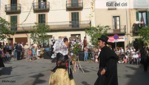 Baile del cirio, en Viladrau