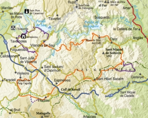 Mapa de Les Guilleries