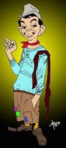 Caricatura de Cantinflas