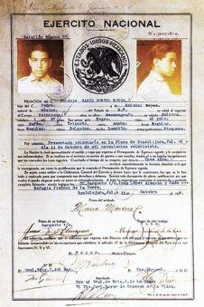 Documento de filiación en el ejército