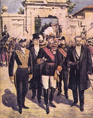 El rey Alfonso XIII presidió el Centenario de los Sitios