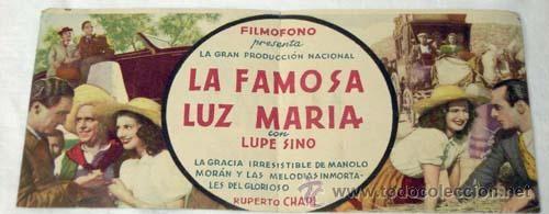 """Cartel de """"Lupe Sino"""" en la película """"La famosa Luz María"""""""