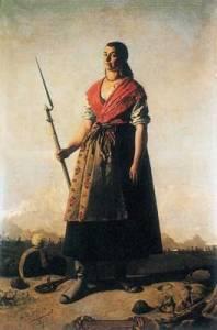 Casta Alvárez, nacida en  Orán - Argelia, (pintura de Marcelino de Unceta)