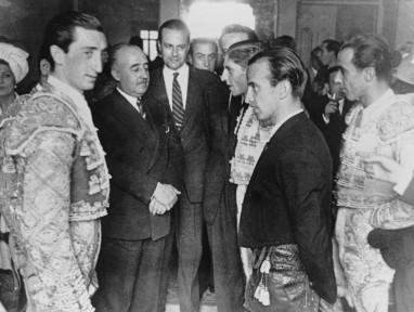 Con Franco en la corrida de  la Beneficencia de 1947