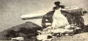 El grabado ¡Qué valor! de Francisco de Goya