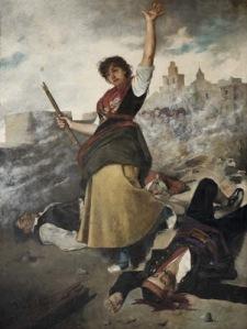 Manuela Sancho (pintura de Federico Giménez Nicanor