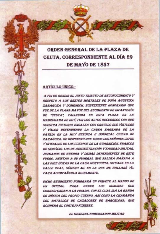 Orden del gobernador militar de Ceuta