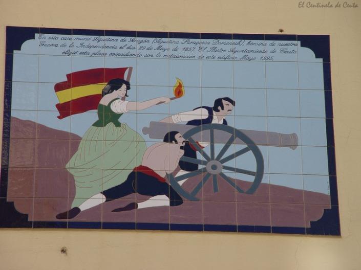 """Placa en su casa de Ceuta con su auténtico apellido """"Saragossa"""""""