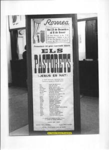 Cartel de Els Pastorets en el tatero Romea
