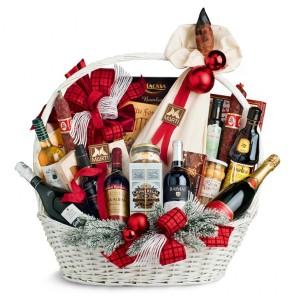 La tradicional cesta conque la empresa obsequia a sus empleados por Navidad