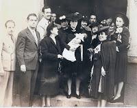 Elisa Asperó en el bautizo de su nieta Diana Negrete