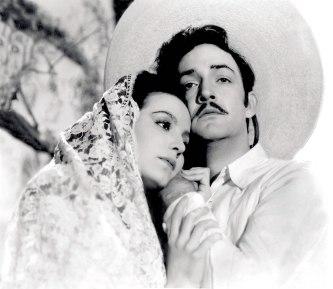 Con María Félix en El peñón de las ánimas (1943)
