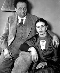 Diego Rivera y su esposa Frida Kahlo