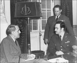 Jorge Negrete con el presidente Ramón Grau San Martín (1945)