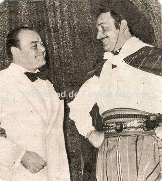 Con Mariano Mores en el teatro Colón de Buenos Aires