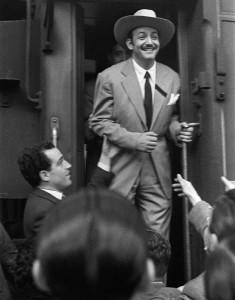 Jorge Negrete a su llegada a la Estación de Norte de Madrid.