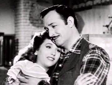 Con Mª de los Ángeles Morales en Teatro Apolo (1950)