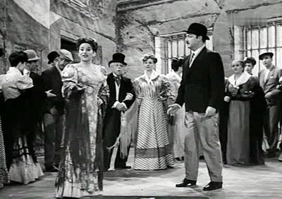 Con Mª de los Ángeles Morales, cantando La verbena de la Paloma.