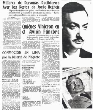 Titulares de los periódicos.