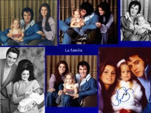 Con su esposa Priscilla y su hijita Lisa Marie.