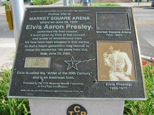 Placa conmemorativa del concierto