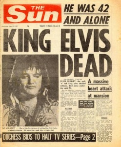 El periódico The Sun comunicando la noticia
