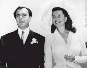 El príncipe Ali Khan el día de su boda con la actriz Rita Hayworth.