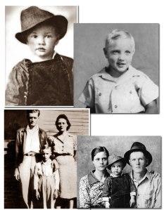 Elvis con sus padres, Vernon y Gladys