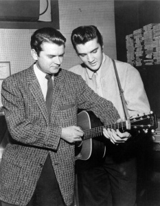Con Sam Phillips en la discográfica Sun Records