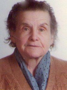 María Braulia, madre de Milagros, a los 86 años, poco tiempo antes de fallecer.