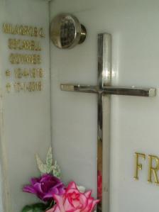 Lateral del nicho donde figura la inscripción de Milagros.