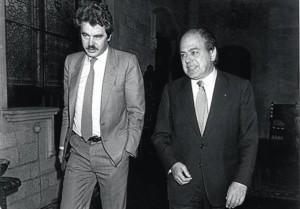 Pascual Maragall junto a Jordi Pujol.