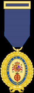 Medalla de Oro al Mérito en el Trabajo.