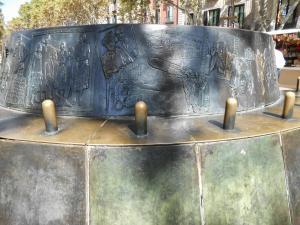 Parte posterior del monumento.