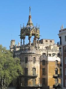 El desparecido hospital La Rotonda de Barcelona.