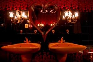 Los baños.