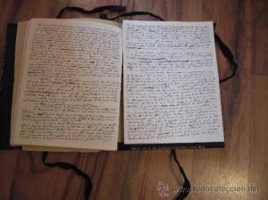 "Manuscrito de ""La fontana de oro"""