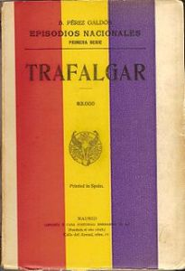 """""""Trafalgar"""", primero de los Episodios Nacionales, (portada de la edición de Hernando en 1935)"""