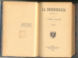 """""""La desheredada"""" (1881)"""