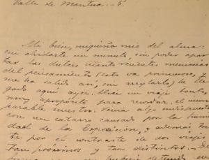 """Fragmento de una de las cartas de Emilia Pardo Bazán a Benito Pérez Galdós """"Miquiño mío del alma""""..."""