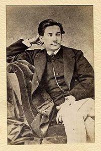 El jóven Galdós en 1863.
