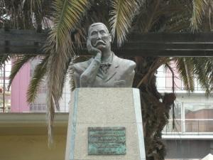 Escultura de Pérez Galdós en el Parque Doramas de la capital grancanaria.