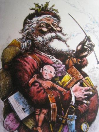 Ilustración de Thomas Nast de Papá Noel en el semanario Harper (1864)