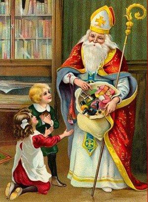 San Nicolás de Bari con los niños.