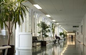 Interior del Hospital Clínico de Barcelona.