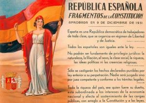 Fragmentos de la Constitución de la República Democrática Española.