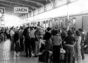 Estación de tren de Jaén, una de las provincias andaluzas que más se despoblaron.