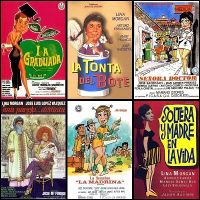 Programas de algunas de las películas de Lina Morgan.